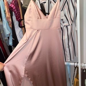 Disconnected maxi dress in blush!